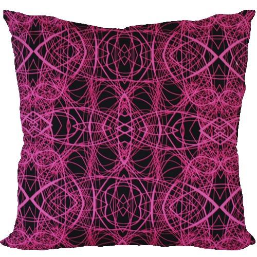 [Oi] 핑크컬러 라인의 패턴 쿠션 웨이빙 (waving)