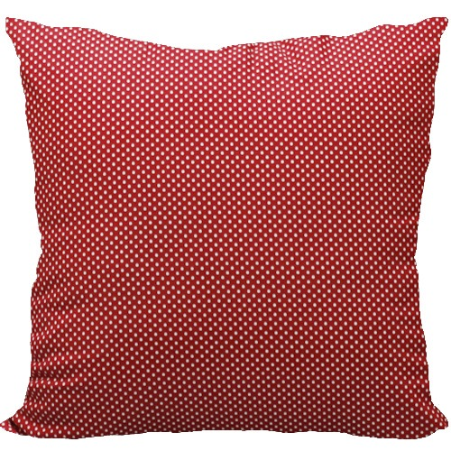 [Oi] 화이트 도트의 패턴 쿠션 레드도트14 (red dot14)