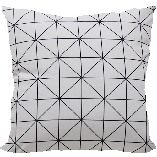 [Oi] 블랙라인의 패턴 쿠션 티알스퀘어 (TR square)